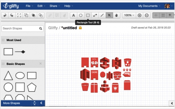 Gliffy adds AWS Simple Icons