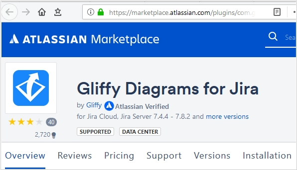 Gliffy integrates with online versions of JIRA and Confluence