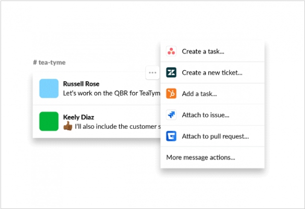 Slack adds Actions feature for deep integrations