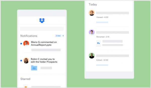 Dropbox improved online file collaboration