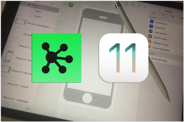 OmniGraffle gains drag and drop for iOS 11