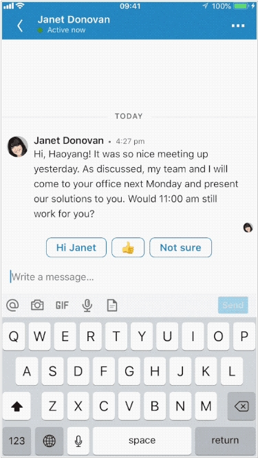 LinkedIn adds voice messaging