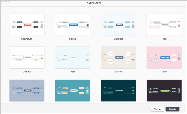 XMind ZEN features new engine and new designed themes