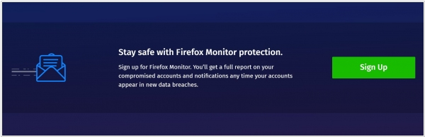 Firefox will now alert you when one of your accounts was hacked