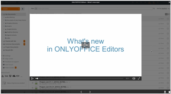 ONLYOFFICE gets media player, upgraded mail and calendar