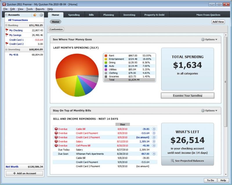 Quicken alternatives. Top 10 Personal budgeting software