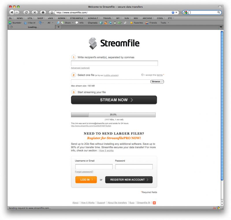 Streamfile alternatives. Top 10 File Transfer services